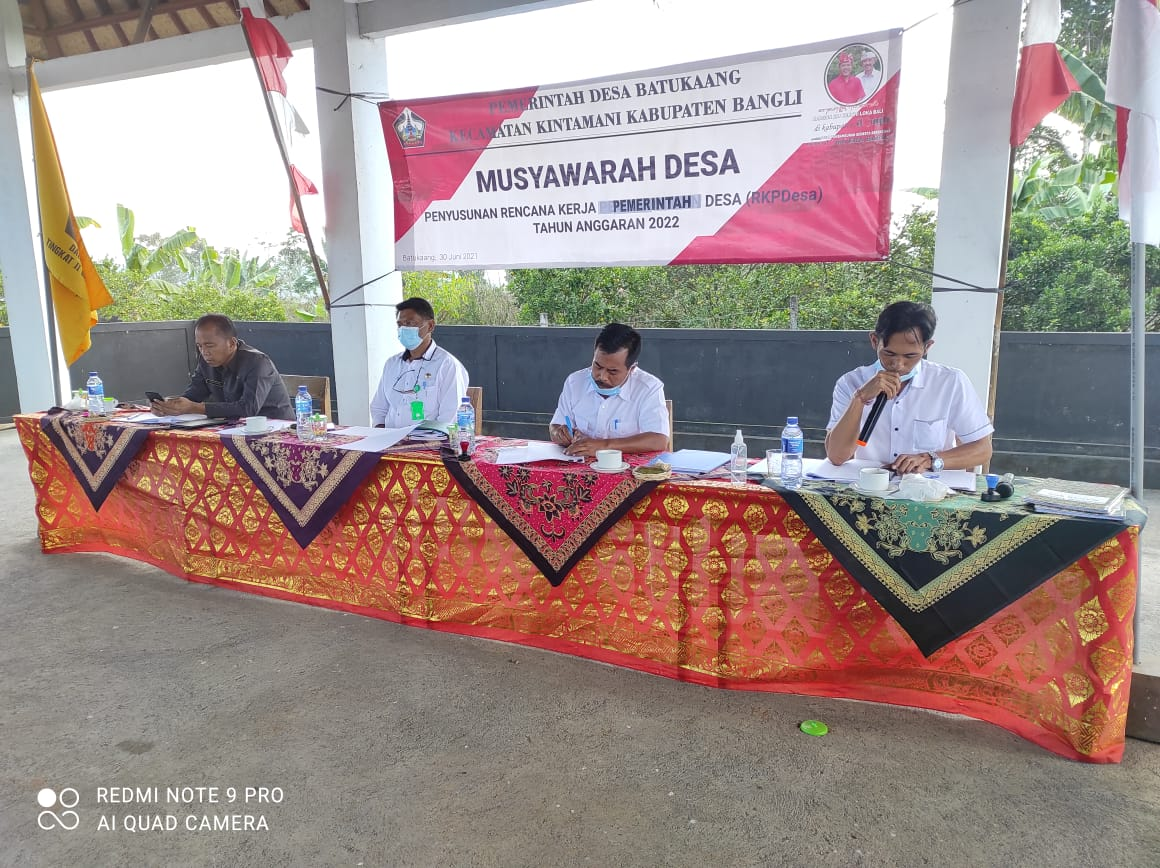 Musyawarah Desa Penyusunan RKP Desa Batukaaang Tahun 2022